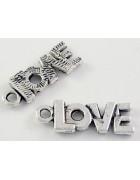 Подвеска металлическая Love. Цвет черненое серебро
