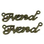 Подвеска металлическая Friend. Цвет бронза