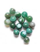 Бусины каменные агат полосатые зеленые 6 мм