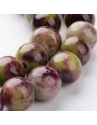 Бусины каменные нефрит оливковые. 10 мм