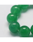 Бусины каменные нефрит зеленые. 8 мм