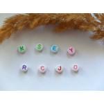 Бусины с буквами разноцветными A