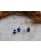 Бусины пластиковые глазки темно-синие. 8 мм