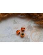 Бусины Глазки пластиковые оранжевые. 8 мм