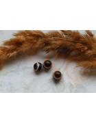 Бусины Глазки пластиковые темно-коричневые. 8 мм