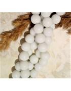 Бусины стеклянные белые 10 мм
