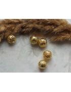 Бусины металлические ажурные. Цвет золото. 10 мм