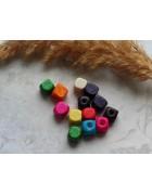 Бусины кубик деревянные микс. 10 шт.
