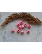 Бусины деревянные розовые. 10*9 мм