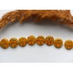 Стеклянные бусины миллефиори желтые 12 мм