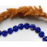 Стеклянные бусины бусины миллефиори синие 12 мм