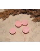 Бусина деревянная плоская Шайба розовая 12*6 мм