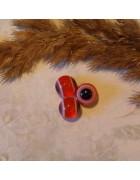Бусины глазки красные 10 мм