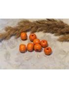 Бусины деревянные оранжевые