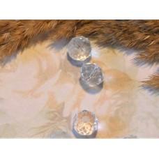 Бусина стеклянная прозрачная граненая 10*7 мм