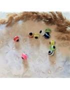 Бусины пластиковые глазки 8 мм. Разноцветный микс 10 шт