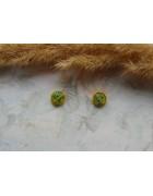Стеклянные бусины миллефиори круглые светло-желтые. 8 мм