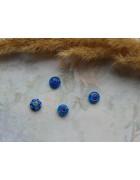Стеклянные бусины миллефиори круглые синие. 8 мм
