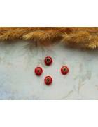 Стеклянные бусины миллефиори круглые красные. 8 мм