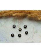 Стеклянные бусины миллефиори круглые черные. 8 мм