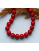 Бусины каменные бирюза красные 9 мм