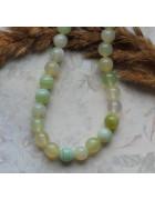 Бусины каменные агат нежно-зеленые полупрозрачные 8 мм