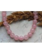 Бусины каменные жадеит (нефрит) розовые полупрозрачные 10 мм