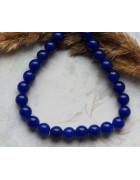 Бусины каменные жадеит (нефрит) темно-синие 8 мм