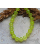 Бусины каменные жадеит (нефрит) светло-зеленые 10 мм