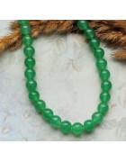 Бусины каменные жадеит (нефрит) темно-зеленые полупрозрачные 8 мм