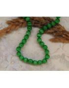 Бусины каменные кошачий глаз ярко-зеленые 8 мм