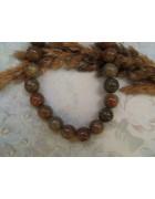 Бусины каменные агат светло-коричневые/серые 10 мм