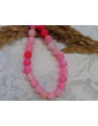 Бусины каменные агат кракле розовые 8 мм