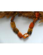 Бусины каменные агат прямоугольные коричневых оттенков
