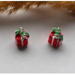 Подвеска с эмалью Подарок красная