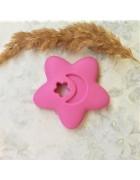 Грызунок прорезыватель Звезда ярко-розовая
