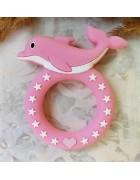 Грызунок прорезыватель Дельфин розовый