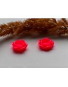 Кабошон Роза ярко-розовая 18 мм