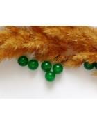 Бусины каменные агат зеленые 8 мм