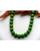 Бусины каменные бирюза ярко-зеленые 10 мм
