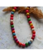 Бусины каменные бирюза разноцветные 8 мм