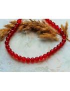 Бусины каменные агат красные 8 мм