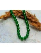 Бусины каменные нефрит насыщенно-зеленые 8 мм