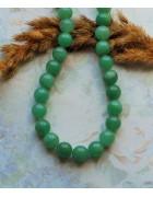 Бусины каменные нефрит светло-зеленые 10 мм