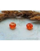 Бусина Pandora Style стеклянная оранжевая