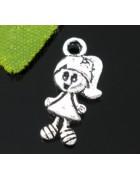Подвеска металлическая Девочка. Цвет черненое серебро