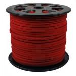 Шнур из искусственной замши красный