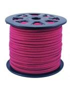 Шнур из искусственной замши темно-розовый