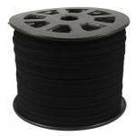 Шнур из искусственной замши черный