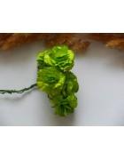 Гвоздики из прессованной бумаги нежно-зеленые